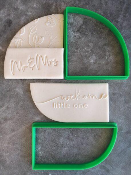 Half Arch Shape Cutter Set for Cookie Dough and Fondant - Cookie Cutter / Fondant Cutter