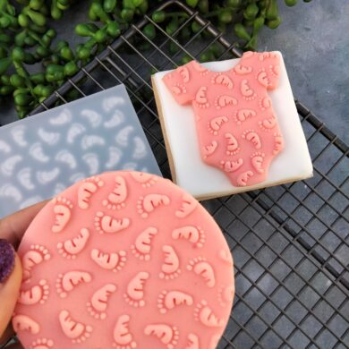 Baby Feet Pattern Fondant Cookie Stamp with Raised Detail