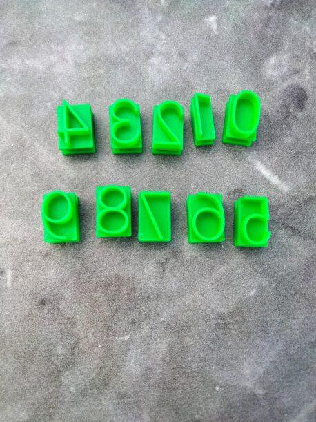 Large Number Cookie Fondant Embosser Stamp Set (1 Full Font Set 0-9)