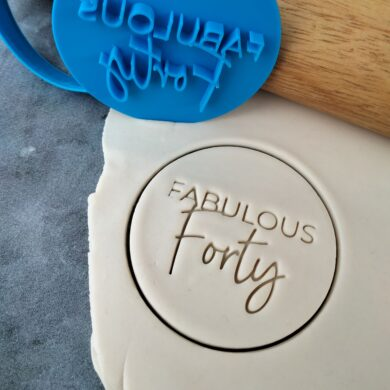 Fabulous Forty 40th Birthday Cookie Fondant Stamp & Cutter