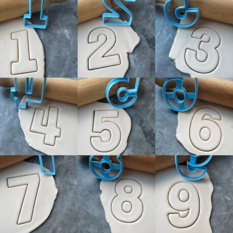 Number Shape Cookie Cutters (0-9) Individual or Full Set