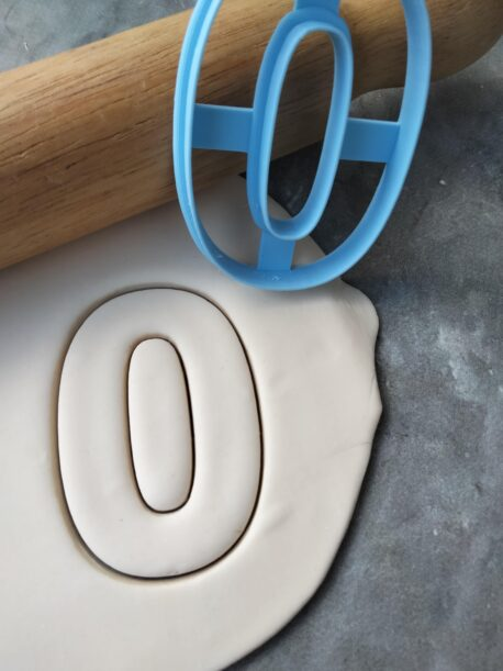 Number 0 Cookie Cutter
