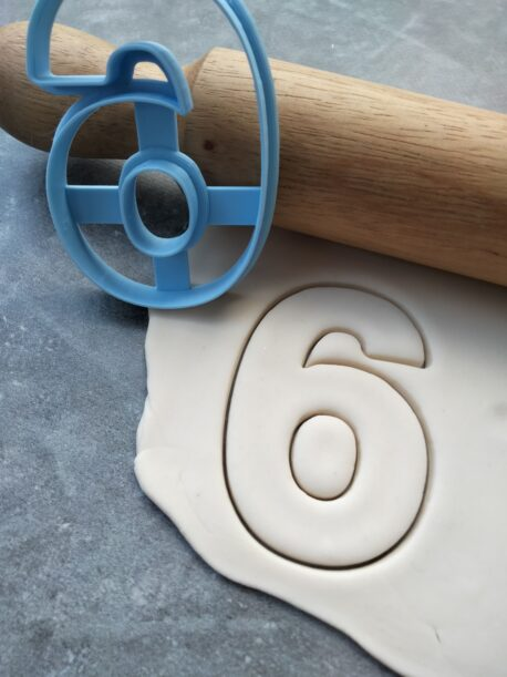 Number 6 Cookie Cutter