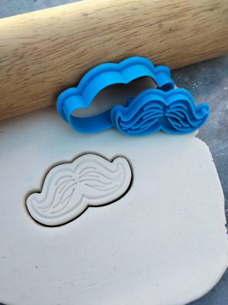 Mini Moustache Cookie Cutter and Fondant Embosser Stamp