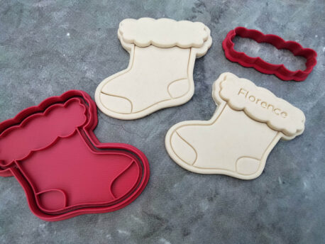 Christmas Stocking Cookie Cutter and Fondant Embosser Stamp DIY Christmas Cookies Table Seating Plaque